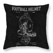 Football Helmet Patent 4 Throw Pillow