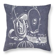 Football Helmet Patent Throw Pillow