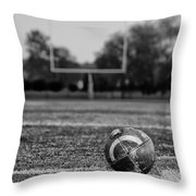 Football In Black And White Throw Pillow