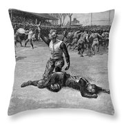 Football Injury, 1891 Throw Pillow