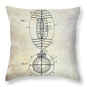 1925 Football Patent Drawing Throw Pillow