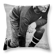 Football Player Jim Thorpe Throw Pillow by Underwood Archives