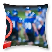 Football Sideline Marker Throw Pillow