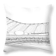 Football Soccer Stadium Throw Pillow