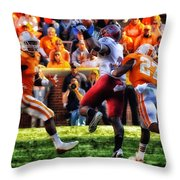 Football Time In Tennessee Throw Pillow