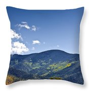 Foothhills Of The Sandia Mountain Range New Mexico Usa Throw Pillow