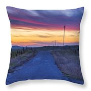 Foothill Sunset Throw Pillow