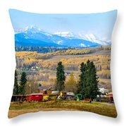 Foothills' Farming Country Throw Pillow