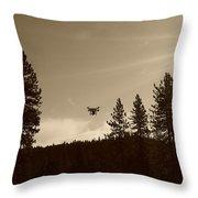 Foothills Flight Throw Pillow