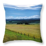 Foothills Of The Rockies Throw Pillow by Terry Reynoldson