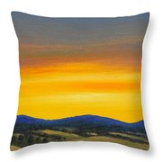 Foothills Sunrise Throw Pillow