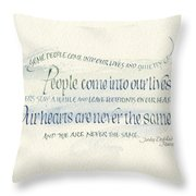 Footprints On Our Heart Throw Pillow