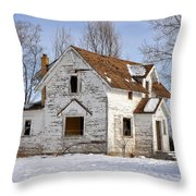 Footsteps In The Snow Throw Pillow