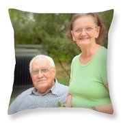 Foozi And His Wife Throw Pillow