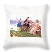 For A Day S Outing Throw Pillow