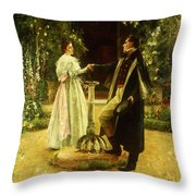 For Always Throw Pillow by Walter Dendy Sadler