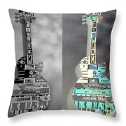 For American Guitars  Throw Pillow