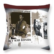 For And Against War Ww1 Ww2 Vietnam 1971-2012 Throw Pillow