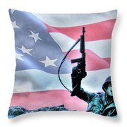 For Freedom Throw Pillow