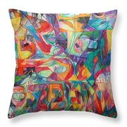 For He Nourishes And Sustains All Throw Pillow