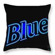 For You Madame Blue Throw Pillow