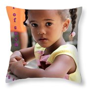 For Of Such... - Haitian Child 1 Throw Pillow