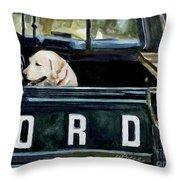 For Our Retriever Dogs Throw Pillow