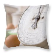 For The Baker Vintage Kitchen Scale  Throw Pillow