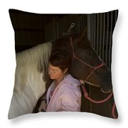 For The Love Of A Horse Throw Pillow
