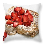 For The Love Of Strawberries Throw Pillow