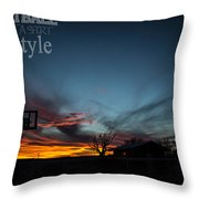 For The Love Of The Game Throw Pillow