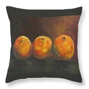 For The Love Of Three Oranges Throw Pillow