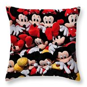 For The Mickey Mouse Lovers Throw Pillow