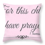 For This Child Small Pink Throw Pillow