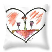 For Two Throw Pillow