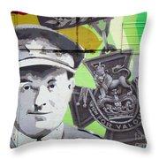 For Valour Throw Pillow by Chris Dutton