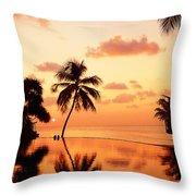 For You. Dream Comes True II. Maldives Throw Pillow