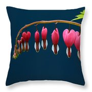 Bleeding Hearts For Your Love Throw Pillow