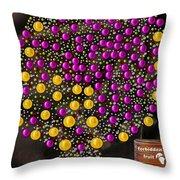 Forbidden Fruit Pop Art Throw Pillow