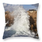 Force Of Breaking Waves Throw Pillow