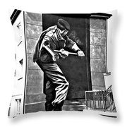 Forced Entry Derry Mural Throw Pillow