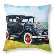 Ford A Tudor Sedan Throw Pillow
