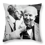 Ford And Edison, C1930 Throw Pillow
