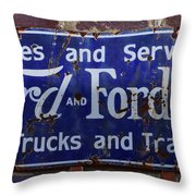 Ford And Fordson Sign Throw Pillow
