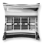 Ford Bronco Grille Emblem -0014bw Throw Pillow