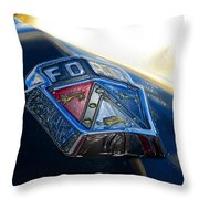 Ford Crest Throw Pillow