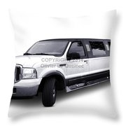 Ford Excursion Stretched Limousine Throw Pillow