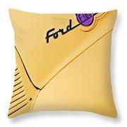 Ford F-100 Emblem Pickup Truck Throw Pillow