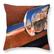 Ford F-5 Pickup Truck Side Emblem Throw Pillow