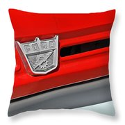Ford F-500 - Route 66 - Winslow Arizona Throw Pillow by Christine Till